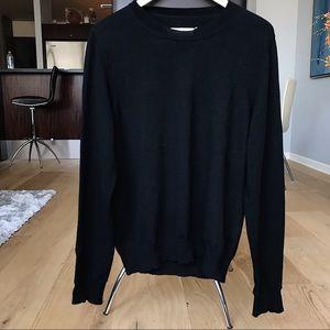 Maison Margiela Black wool crewneck sweater - sz L